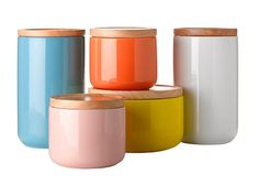 Gorgeous ceramic canisters.
