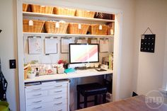 #office space in a closet