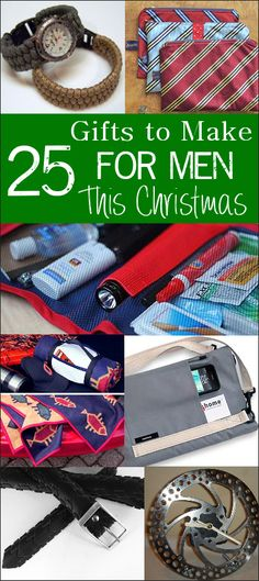 25 Gifts to Make for Men this Christmas