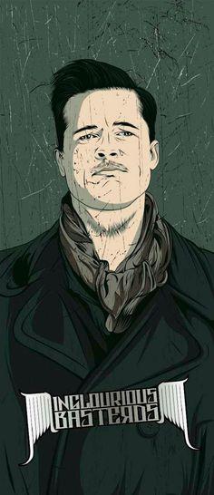 Inglourious Basterds-Inspired Art basterd, aldo rain, art prints, poster, movi, craniodsgn, portrait, illustr, design
