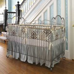 santorina baby bedding by posh tots - LOVE the bedding && crib!! Can I have this now && the baby MUCH later? ;) lol