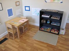 How to prepare a learning space; includes links to lots of blogs with toddler activities