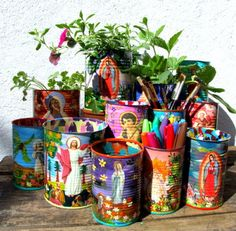 What a wonderful idea. Who doesn't have a surplus of cans? This is such a beautiful and practical solution.