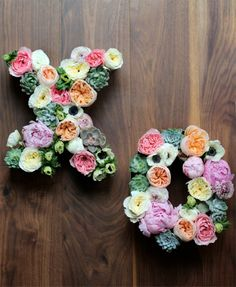 Truly beautiful   DIY floral letters