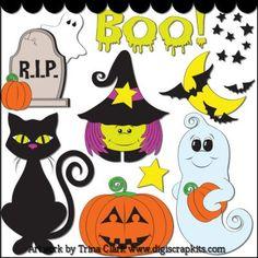 Halloween 1 Clip Art - Original Artwork by Trina Clark