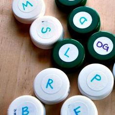 How to Make Bottlecap Word Families