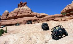 Jeeping in the Moab on the trail to my sons wedding destination on the ridge... so fun & such beautiful scenery