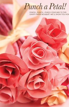 Use a 1/2-inch circle punch to make a lovely DIY paper bouquet. We'll show you how!