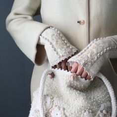 sequin, accessori, winter white, ana rosa, wrist warmers