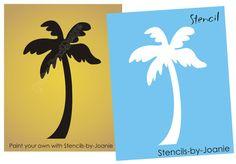 wall art, palm tree, tattoo wall, a tattoo, beach, decor nautic, stencil, tiki tattoo, tropical homes