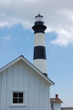 Bodie lighthouse -- another of the beautiful lighthouses of the Outer Banks.  Don't miss these when you visit!