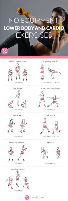 Work your legs, hips