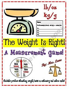 The Weight Is Right! A Measurement Game (Great Whole-Class Activity!)