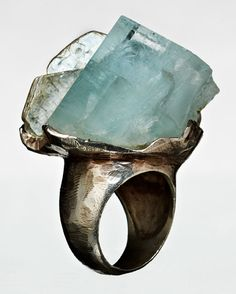 Iceberg aquamarine ring.