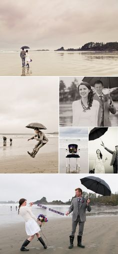 Shawna & Sean eloped ~ and spent the rest of the day playing in the rain ;) So beautiful and playful! Photography by Blush Wedding Photography