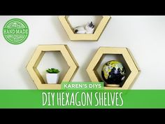DIY Hexagon Shelves from Cardboard - HGTV Handmade - YouTube