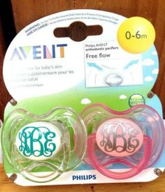MONOGRAMMED PACIFIER!