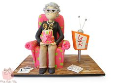 Sharon's mom turned 95 and to help celebrate we created this replica of her mom in cake form!