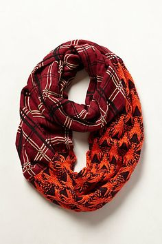 red, infinity scarfs, colors, anthropologie, scarves, lodg infin, design, lodges, infin scarf