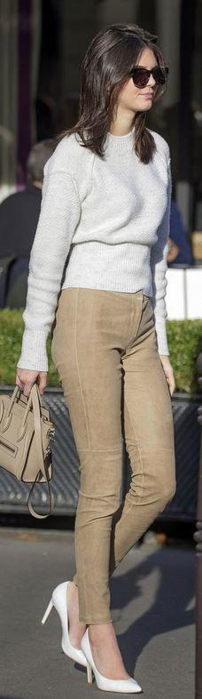 Who made  Kendall Jenner: Sunglasses – Wildfox  Purse – Celine  Pants – Theory