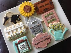 Nice 'New Home' cookies (NatSweets).