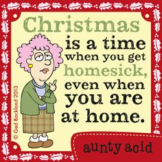 Aunty Acid on GoComics.com #humor #comics #Christmas #home