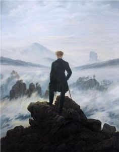 Caspar David Friedrich - Der Wanderer über dem Nebelmeer (The Wanderer Above the Sea of Fog) [1818]