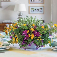 Decorate Your Table Create a party centerpiece and then re-plant outside later. plant, spring color, garden ideas, parti centerpiec, wedding centerpieces, party centerpieces, flower