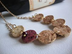 DIY Recycled Wine Cork Necklace
