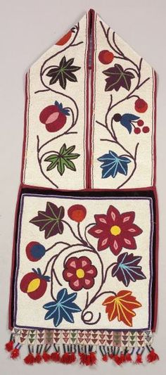Another beautiful example of an antique Ojibway bandolier.