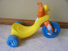 Vintage 1980's COLECO SESAME STREET BIG BIRD TRICYCLE BIG WHEEL #COLECO
