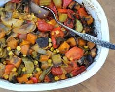Tourlou Tourlou (Greek Baked Vegetables), a rainbow of vegetables slow-cooked in the oven. Great for parties, serve hot or at room temperatu...