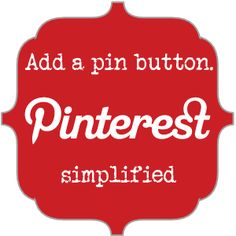 How to easily put a Pinterest Pin-it Button on your blog.