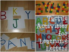 Tactile Activities for Learning Letters