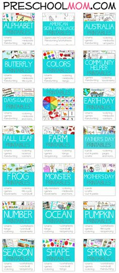 30+ Free Preschool Printables Themes