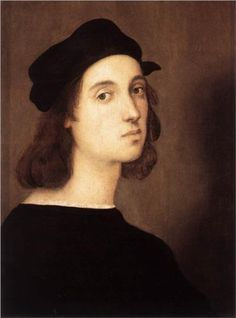 Self Portrait   - Raphael.  1504-06.  Oil on panel.  47.5 x 33 cm.  Galleria degli Uffizi, Florence, Italy.