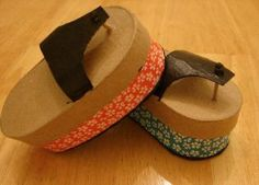 Japanese Crafts....Japanese Sandal Craft (very cute), Oragami Photo Frame, Japanese Paper Lanterns, Paper Fans, Japanese Carp Kite, Woodblock Printing, Sumi-E Japanese Painting...