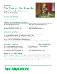 Lesson Plans: The Elves and the Shoemaker | Speakaboos Worksheets