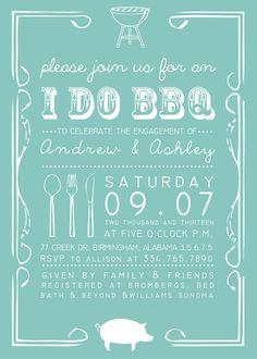 Printable Custom Personalized I Do BBQ Invitation, Bridal or Couples Shower, Invitation Design, Pig, BBQ Shower, Wedding Shower