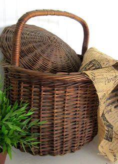 1940s hand woven basket