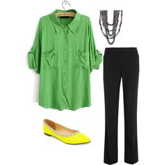 Teacher outfit: different color shirt though