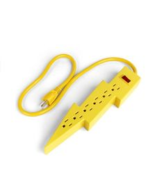 Yellow Modern Lightning Power Strip