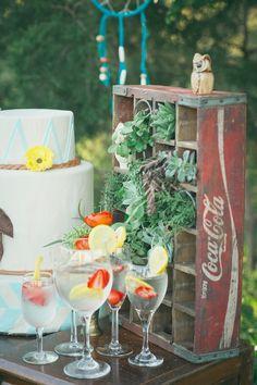 chic decor, coca cola, boho chic, wedding receptions, wedding ideas
