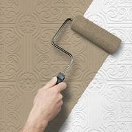 "Paintable Wallpaper from Lowes ...to create a vintage tiled ceiling or backsplash. After removing so much horrible wallpaper in our current house, Im not sure I could put more up, but this is neat!"" data-componentType=""MODAL_PIN"