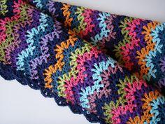 Love this vintage #crochet blanket stitch!