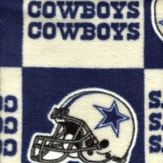 NFL Dallas Cowboys Polar Fleece Square Print Fabric -Per Yard by J&O Fabrics. $6.99. A versatile must-have for the die-hard fan, this officially licensed NFL® team polar fleece square print fabric from J&O Fabrics can be used for quilts, shirts, jackets, jacket linings, carrying bag, bed sheets, and more! The 100% polyester fabric is emblazoned with an all-over team square print and measures 60-in wide. NOTE: Fabric is non-returnable.. Save 59% Off!