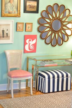 Mint, Coral & Navy - Love the color combo!