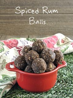 That right! Not rum balls but Spiced Rum Balls. These little suckers are so good! A lot of simple ingredients that mix so well and taste so amazing.