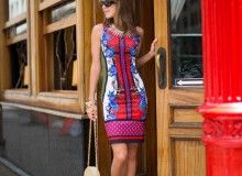 @stylebungalow showing us how to wear her fabulous printed dress from TJMaxx! #maxxinista