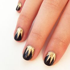 Rockin' this look to the theatre this weekend! #Gatsby  DIY This Easy Gatsby-Inspired Nail Design